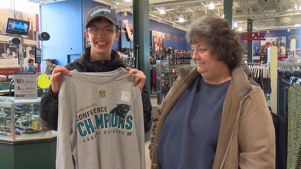 Panthers merchandise is hot in the Triangle, including at Dick's Sporting Goods. (WNCN)