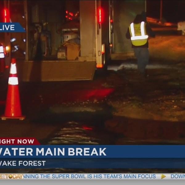 water main break Wake Forest_129026