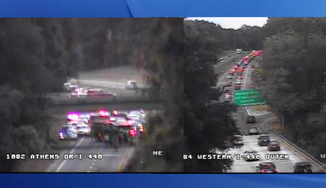 I-440 westbound reopens after motorcycle crash in Wake County