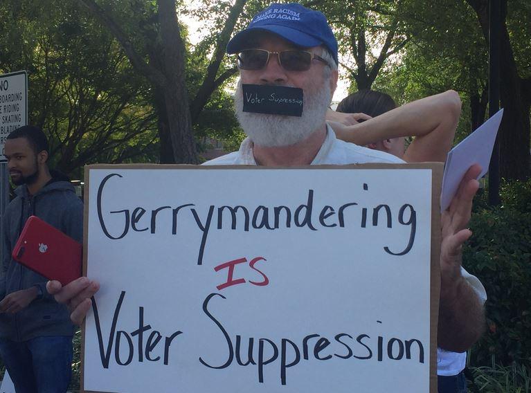 gerrymandering protest raleigh_500425