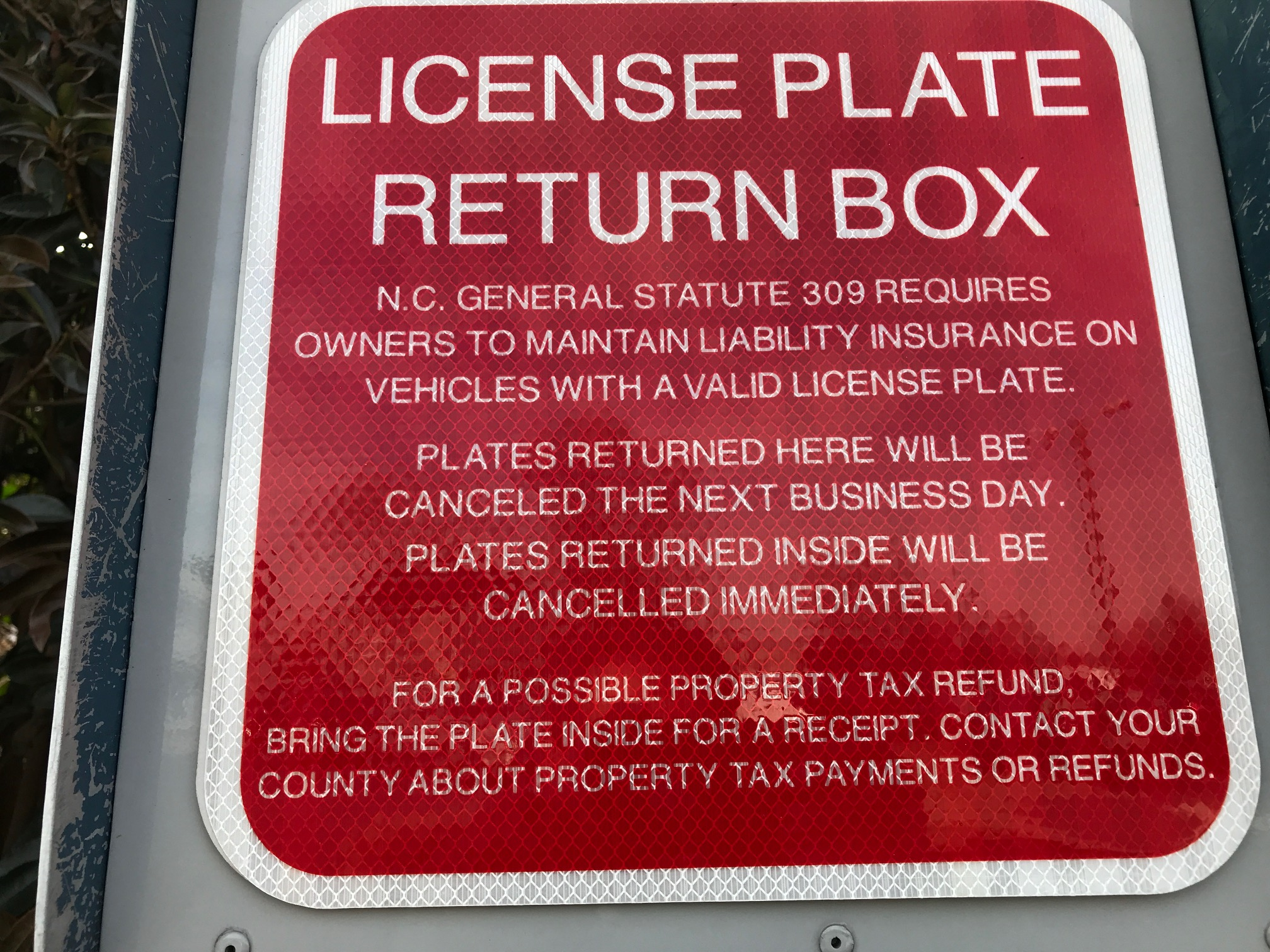 NCDMV updates license plate dropboxes to help you avoid fine