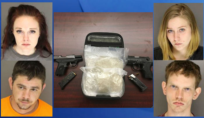 4 busted in Moore County with meth, guns, cash, sheriff's