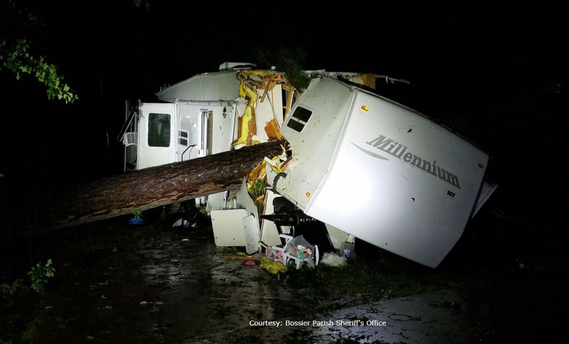 As storms hit, tree crashes on RV, killing 2-year-old girl