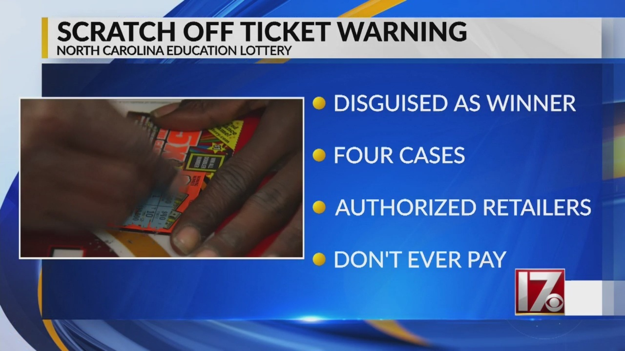 NC officials issue lottery scam warning