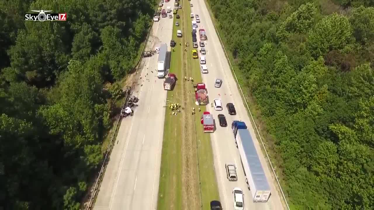 i-40 johnston county crash