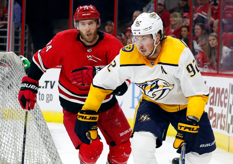 Predators Hurricanes Hockey_1538342348876