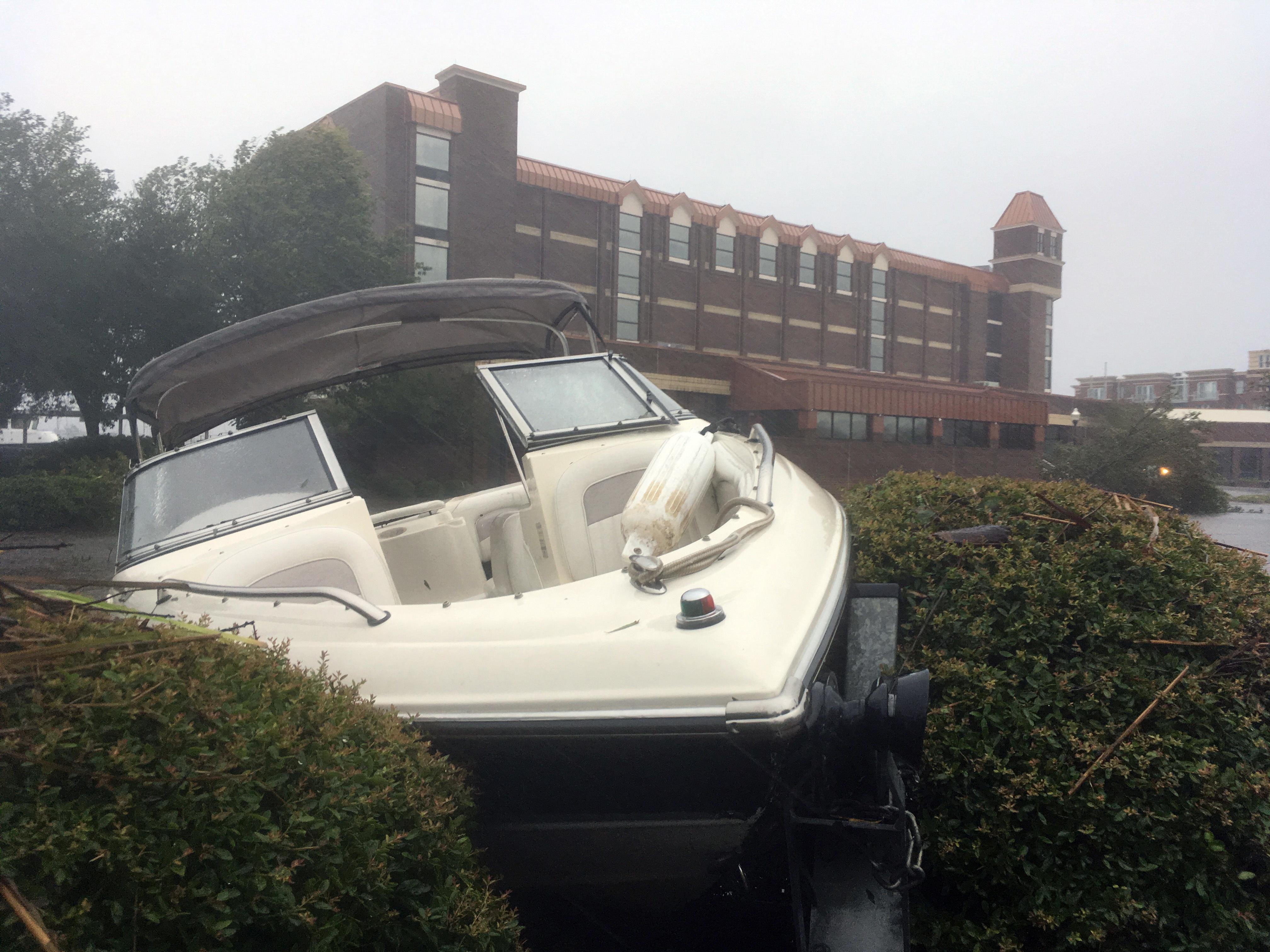 VIDEO: TV station near NC coast evacuates because of Hurricane