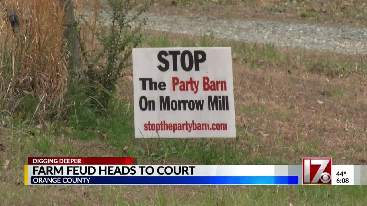Feud over Orange County party barn goes to court