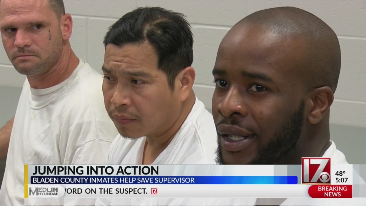 NC inmates given Life Saving Award for rushing to aid