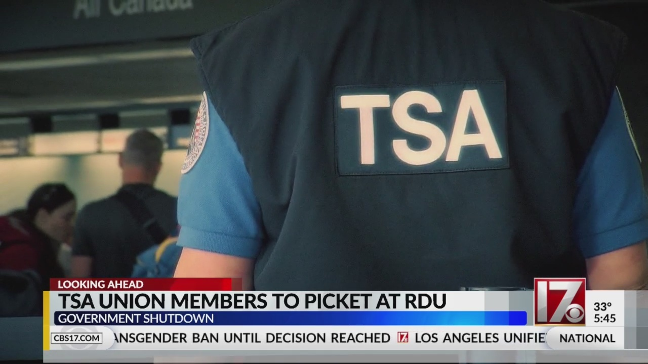TSA protest partial government shutdown at RDU