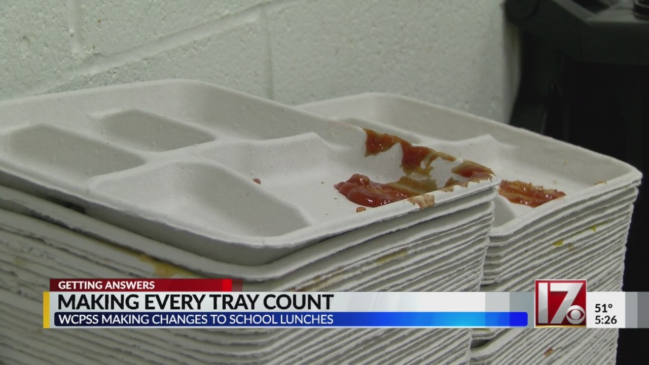 Wake County Schools' cafeterias going green one tray at a time
