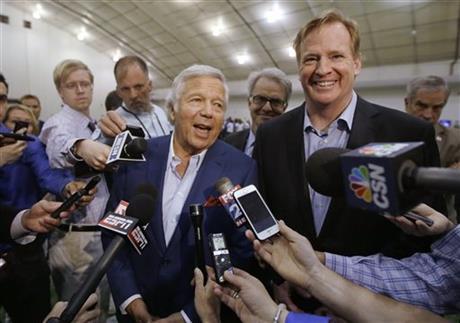 Patriots' Kraft says he won't appeal NFL penalties over deflated footballs (Image 1)_31916