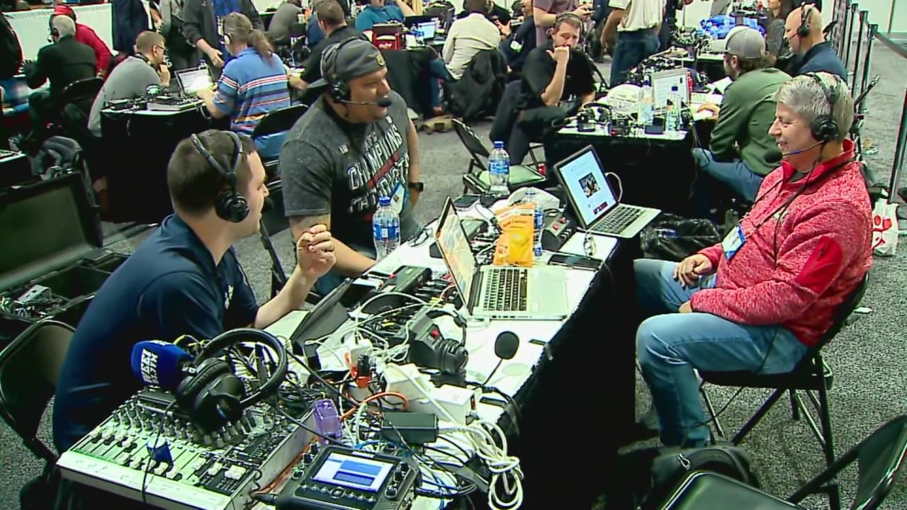 A look at Radio Row before Super Bowl 53