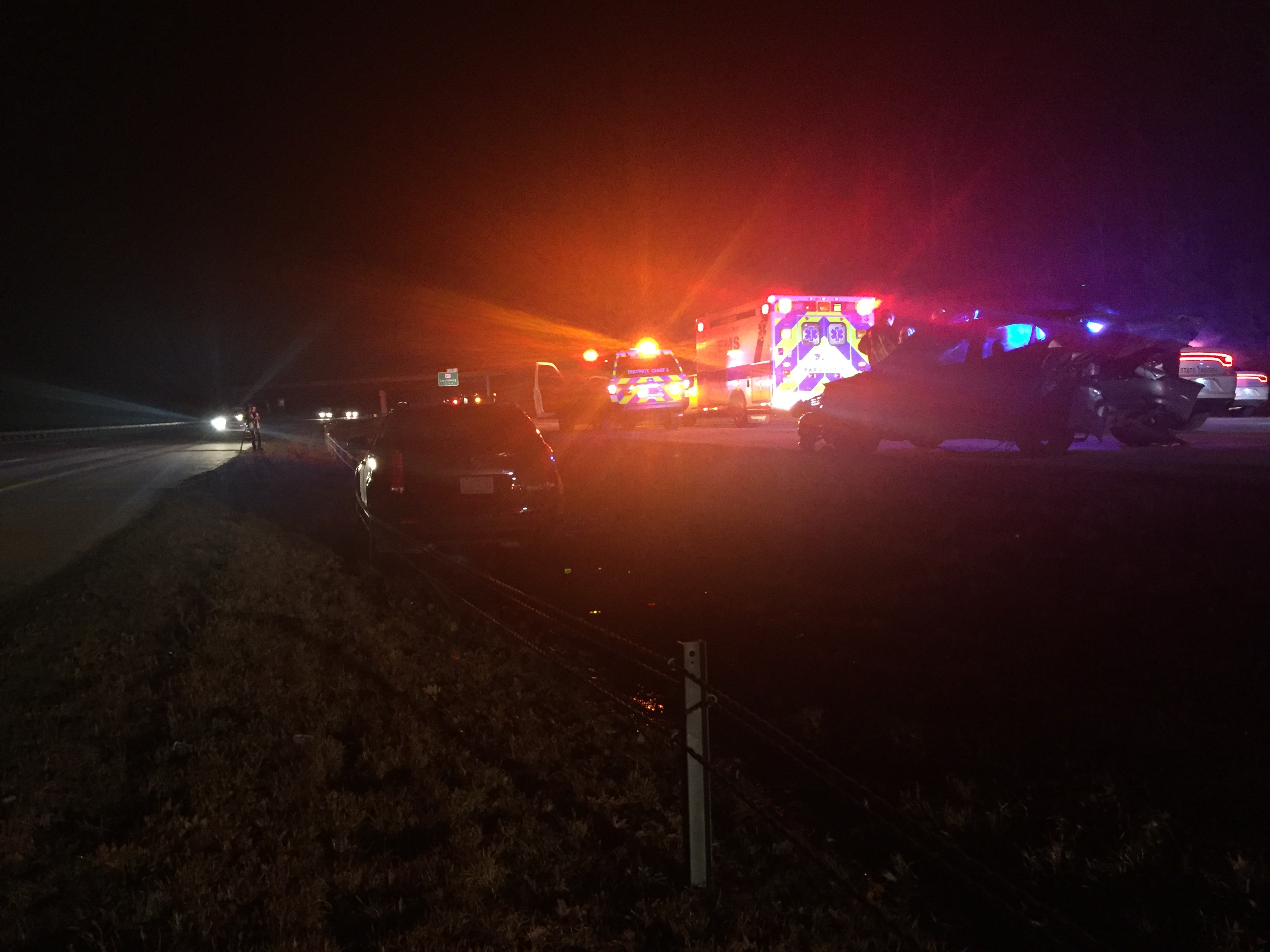 2 injured, including a child, in I-540 accident Wednesday night