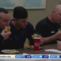 CBS 17 brings lunch to Sanford police officers