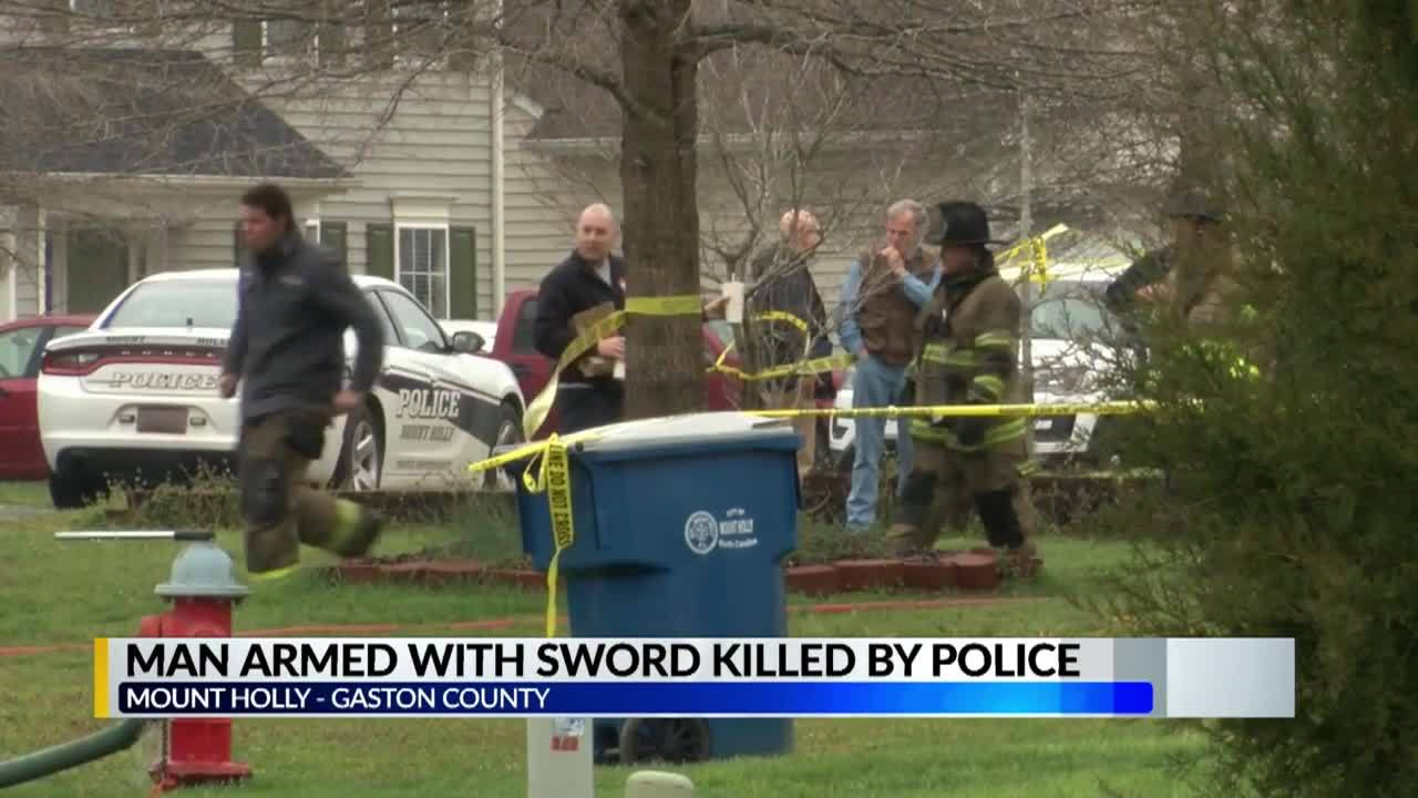 NC man with a sword is killed by police in shooting