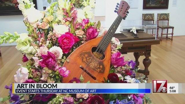 NC Museum of Art preps for 'Art in Bloom' fundraiser