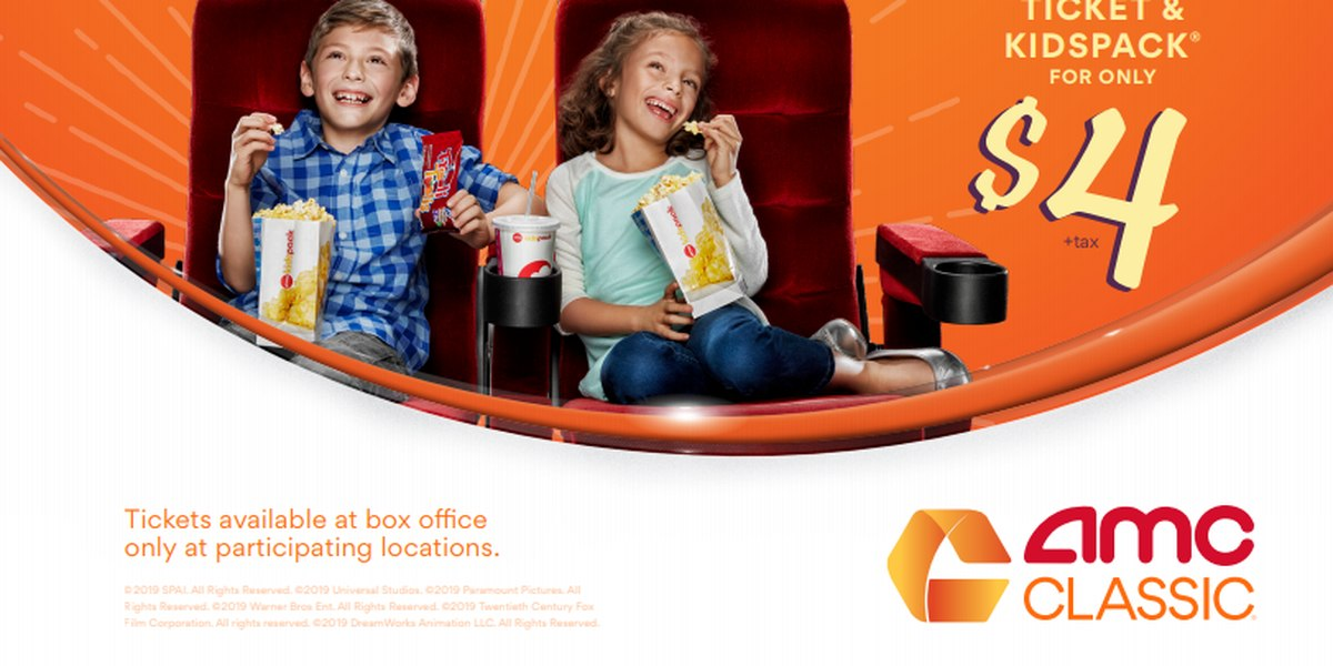 Kids Can Get A Movie Ticket Drink And Popcorn For 4 This Summer At Amc Theatres