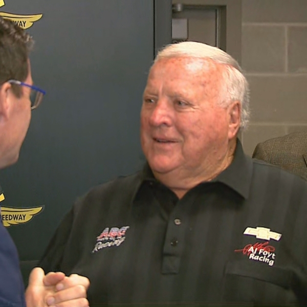 A.J. Foyt bronze brick installed at Indianapolis Motor Speedway