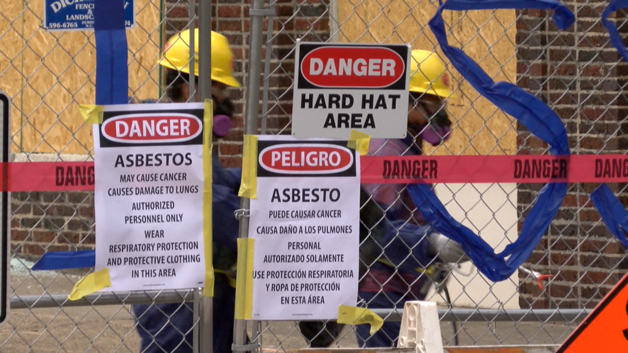 Signs near deadly Durham explosion warn of cancer risk