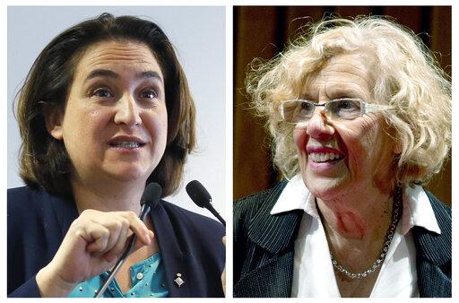 Ada Colau and Manuela Carmena
