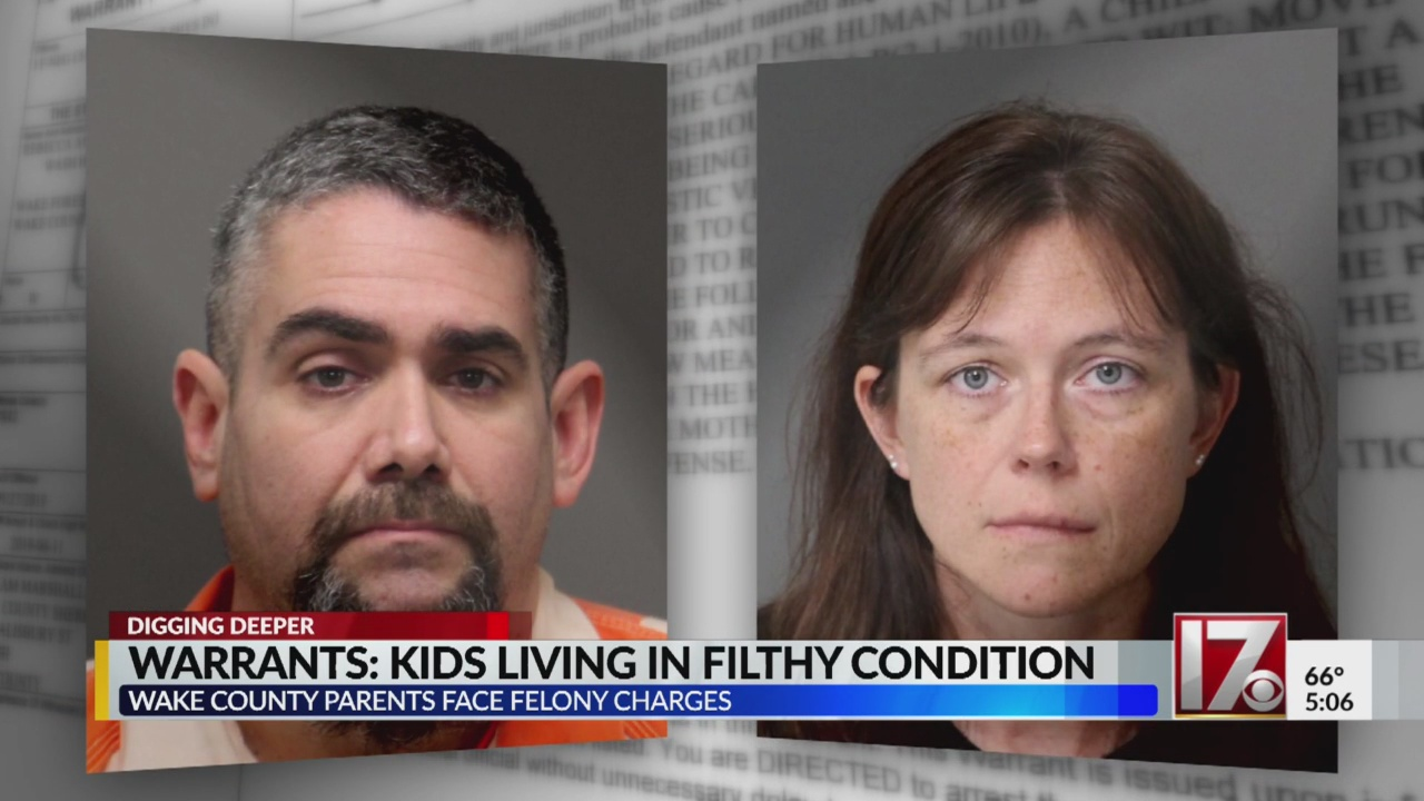 Wake County parents arrested after kids found living in