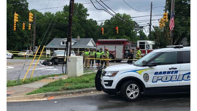 Motorcyclist ejected, killed in fiery crash in Garner was speeding