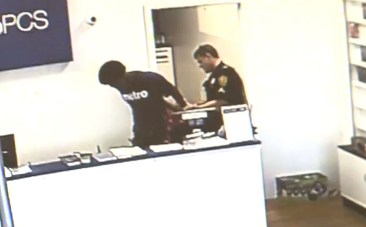 VIDEO: Store employee handcuffed for 'being disrespectful