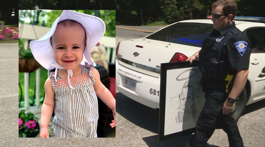 Dad's fellow officers attend funeral for toddler who fell 11 stories