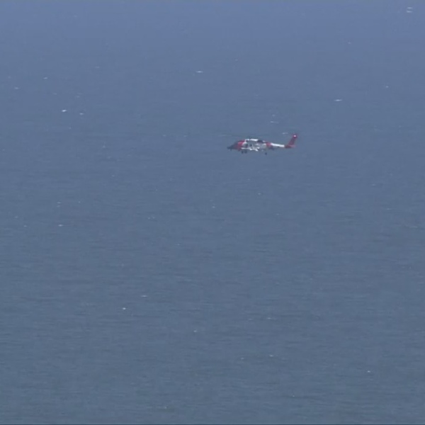 Coast Guard searches over Sandbridge Beach in Virginia. (Courtesy of WAVY)