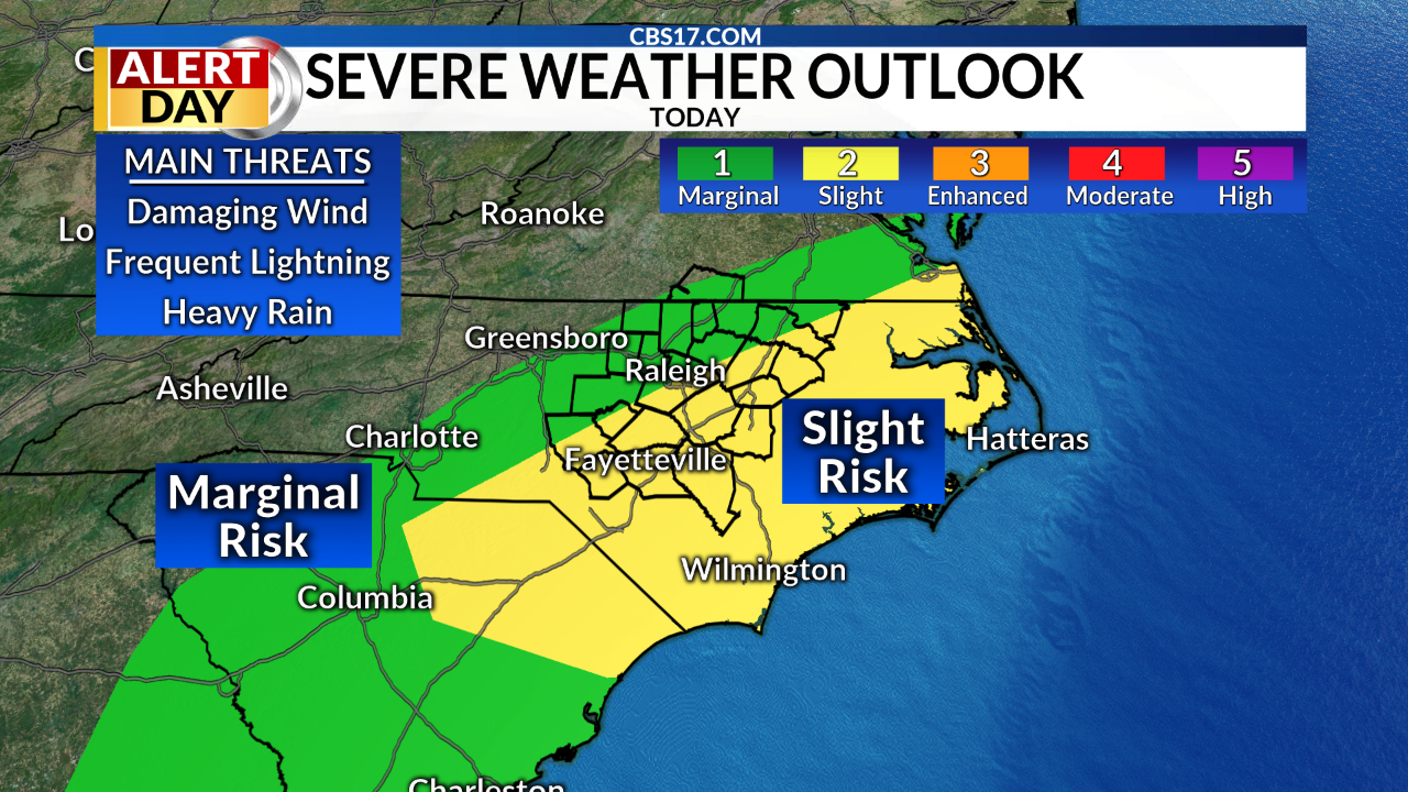July 23: Severe Storms Likely Today | CBS 17