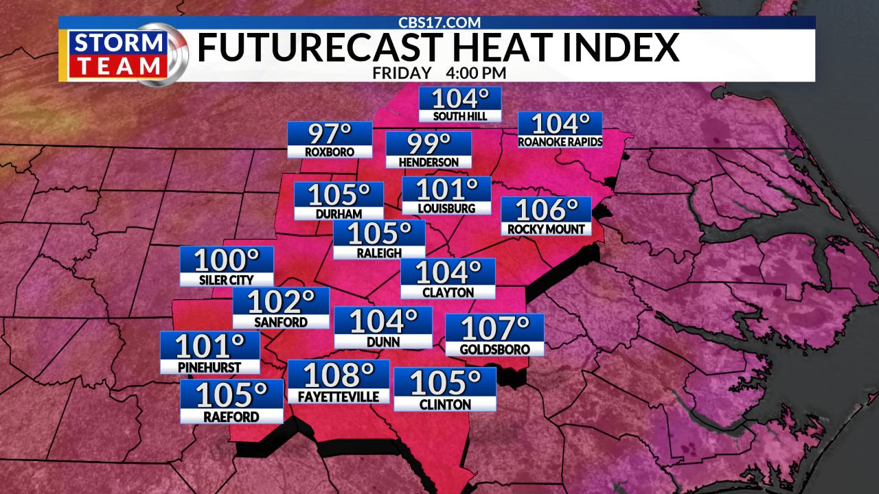 July 19: Dangerously Hot This Weekend | CBS 17