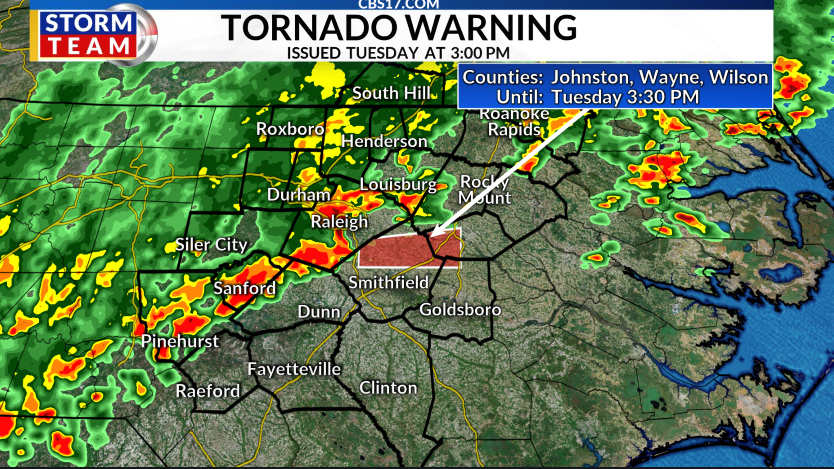 ALERT DAY: Tornado warnings hit central North Carolina ...
