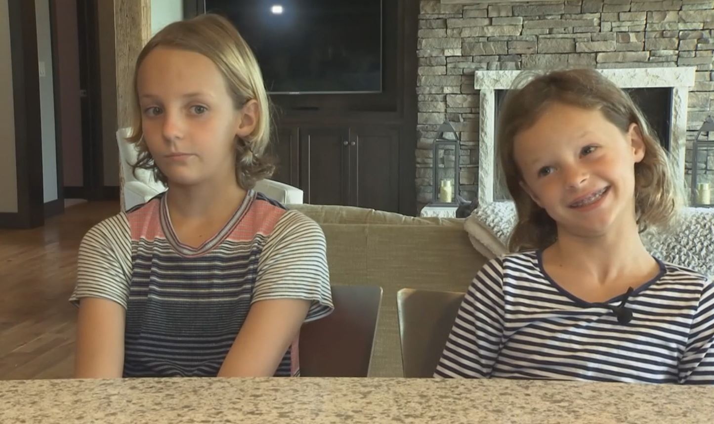 Daughters save dad's life after he has allergic reaction to bee