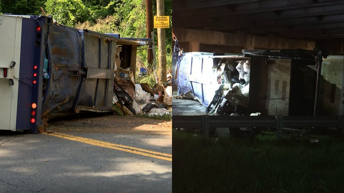 Garbage truck overturns twice in same day, shuts down