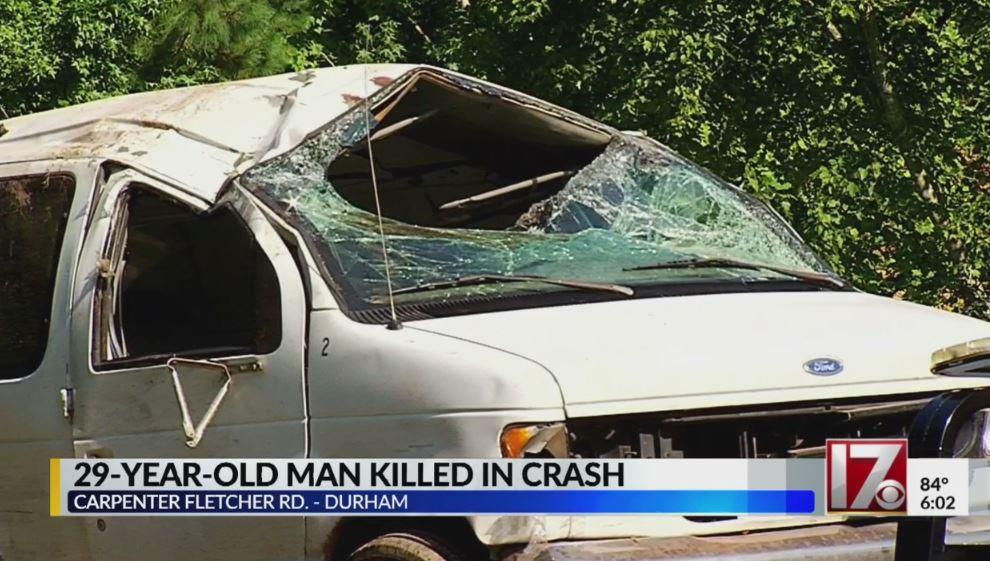 Durham man dies after he's ejected in van crash, police say