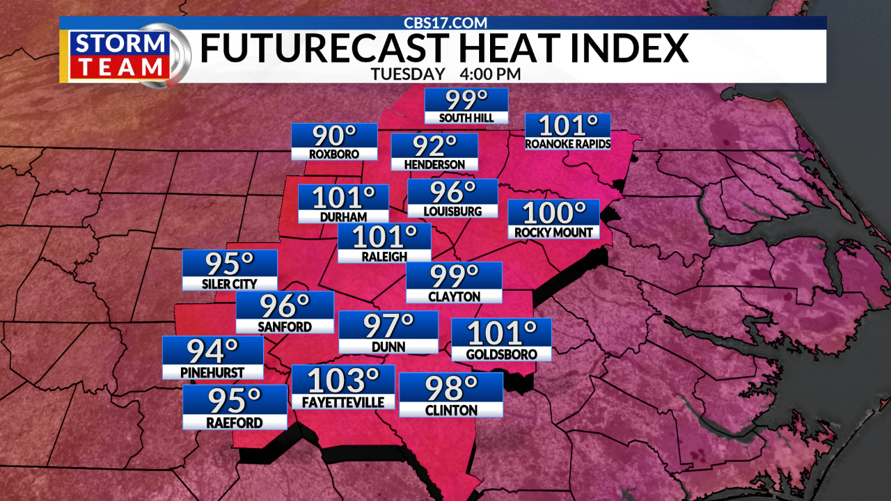 August 20: More Heat, More Humidity, More Storms   CBS 17