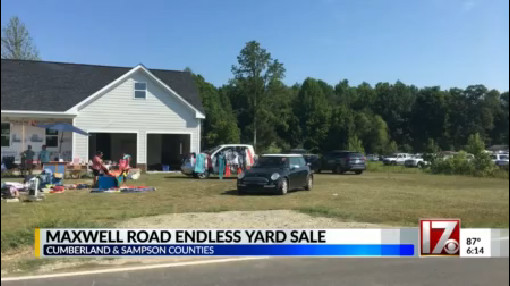 25 miles of bargains at the Maxwell Road Endless Yard Sale | CBS 17