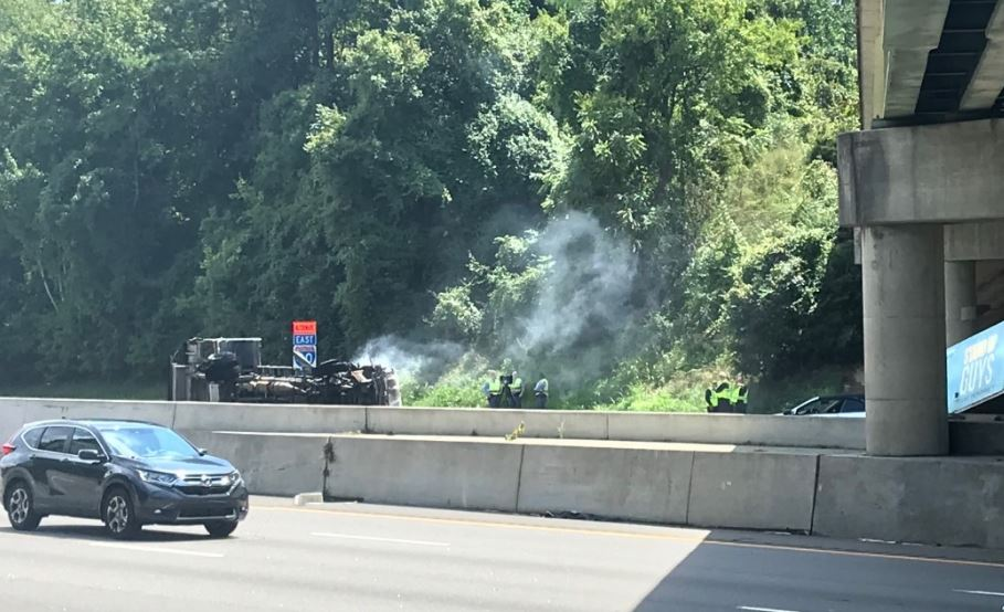 Man killed, 3 injured in fiery crash on I-40 east in Raleigh