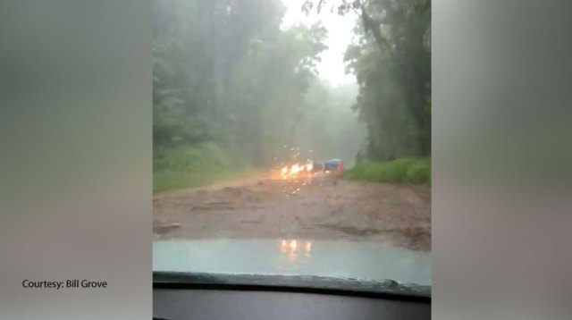 4 mudslides along NC mountain highway leave some stranded in cars overnight