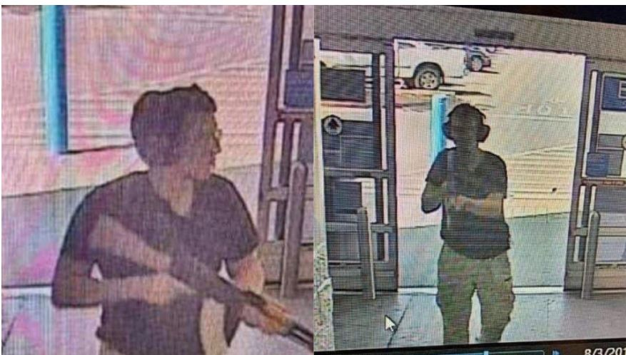 KTSM confirmed through a law enforcement source that this photo is of the shooter as they entered the Walmart show at Cielo Vista around 10 a.m. Saturday.