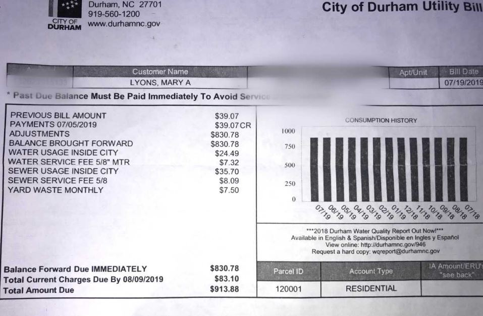 Durham residents shocked by high water bills after months of