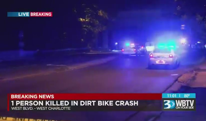 Pack of ATVs swarms NC town, dirt bike rider dies in crash
