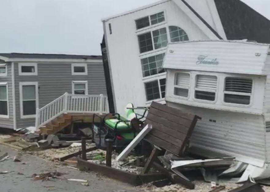 VIDEO: Tornado hits Emerald Isle causing major damage | CBS 17