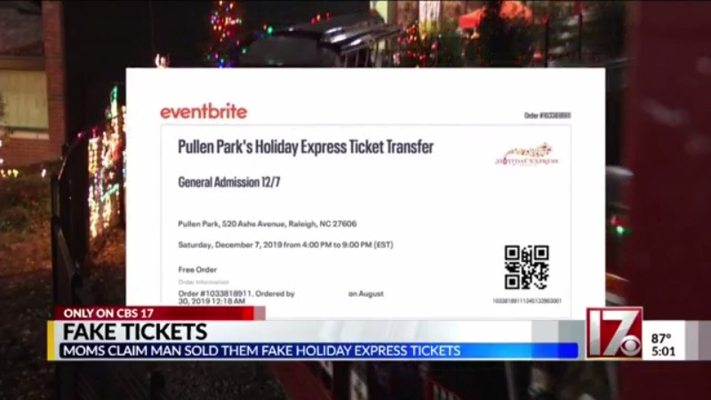 Pullen Park Christmas 2019.Mom Sends Warning About Fake Tickets To Pullen Park Holiday