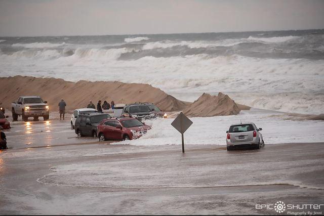 Storms erode dunes, flood major roadway near NC coast
