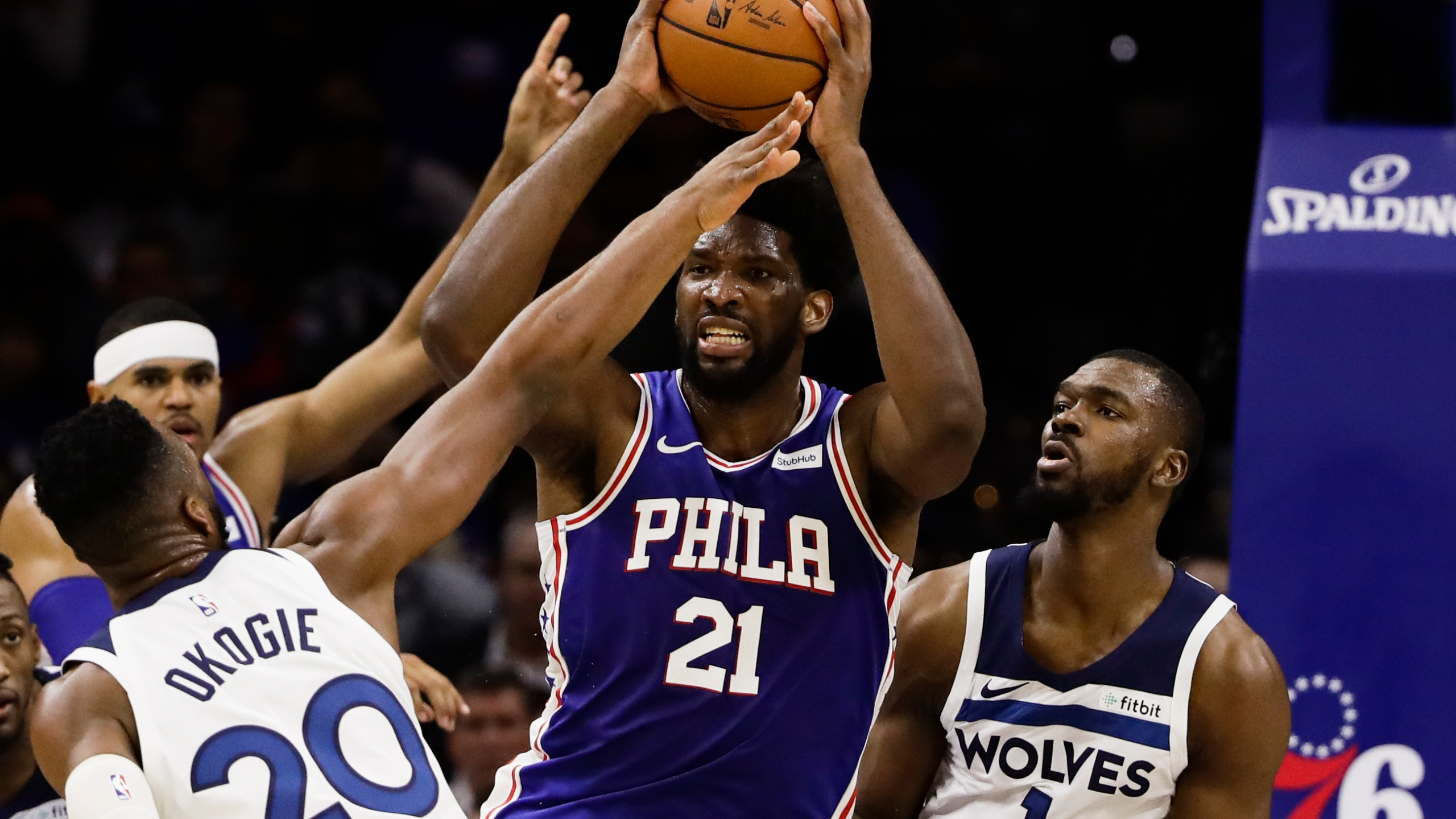 Embiid Towns Ejected As Sixers Rout T Wolves 117 95 Cbs17 Com