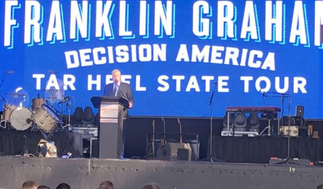 Thousands attend Franklin Graham's tour stop in Wake County