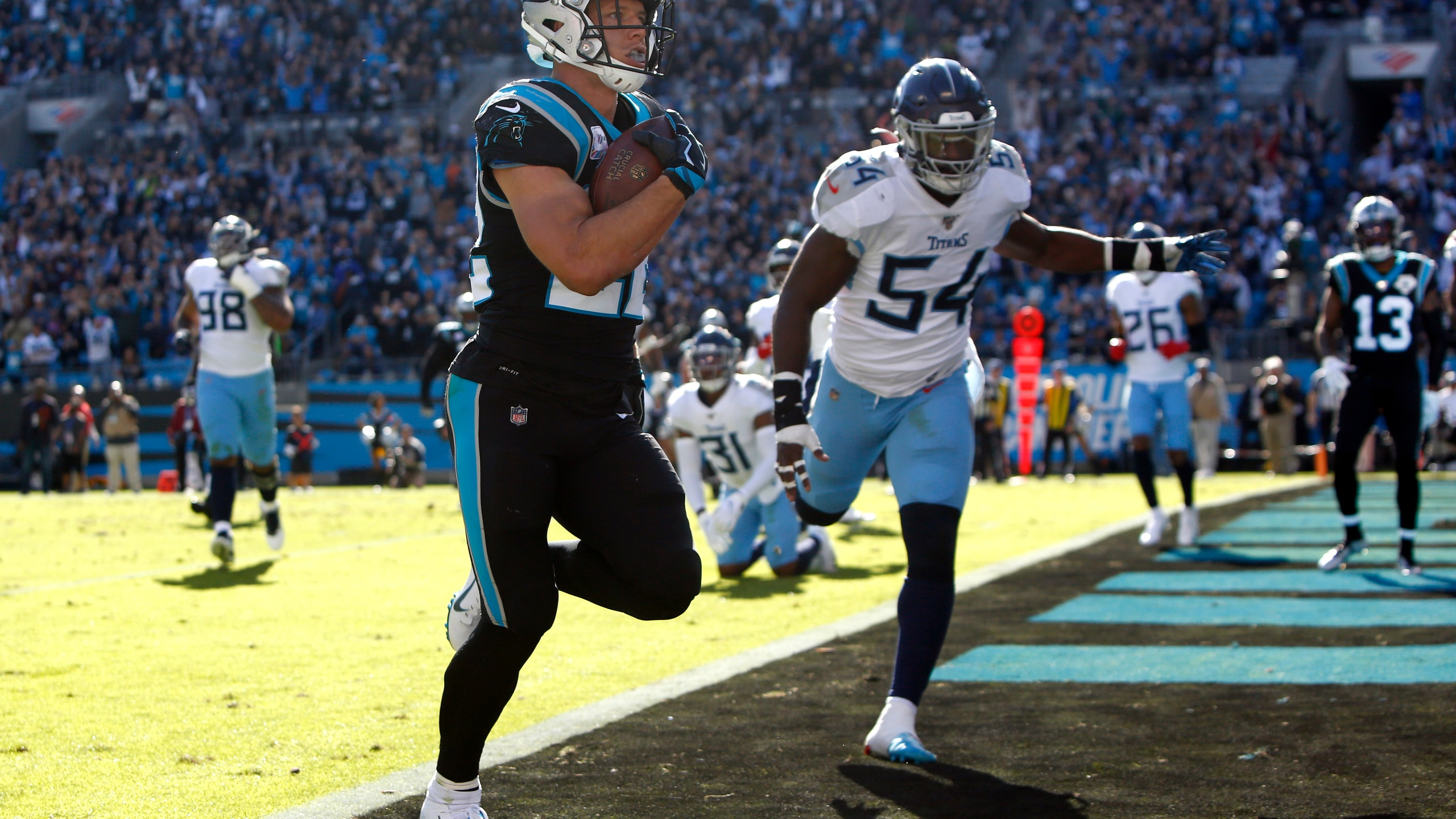 Mccaffrey Hears Mvp Chants After Panthers 30 20 Win Cbs 17