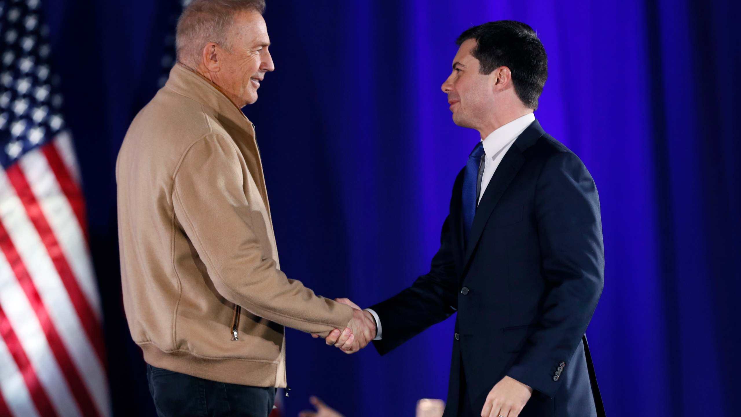 Pete Buttigieg, Kevin Costner